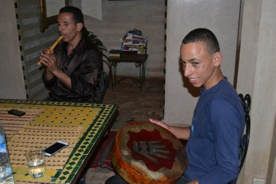 Father and son, Berber music