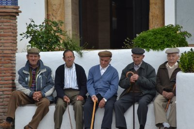 The old men of Orgiva in the Alpujarras