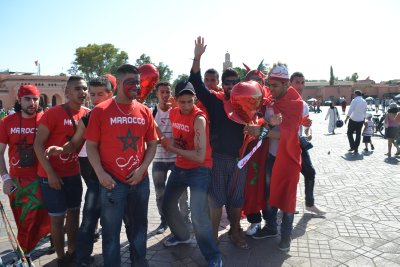 Morrocan footie fans in Marrakesh