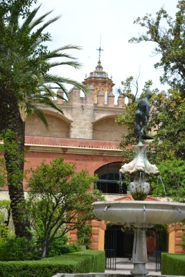 Gardens of alcazar real in Seville