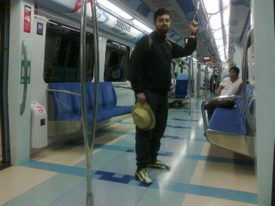 Brand spanking new Dubai metro!