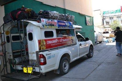 The truck to Pun Pun