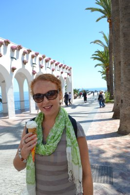 Soph with helado, Nerja