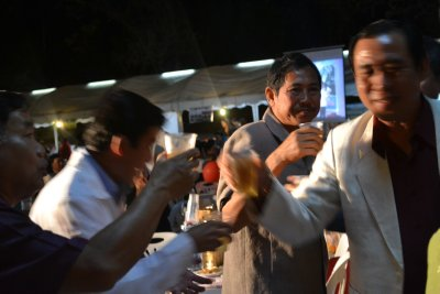 New Year&#39;s Eve - Luang Prabang - Locals celebrating