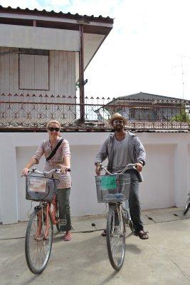 Us on our bikes - Ayuthaya