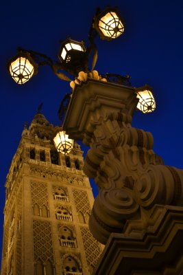 Seville giralda by night