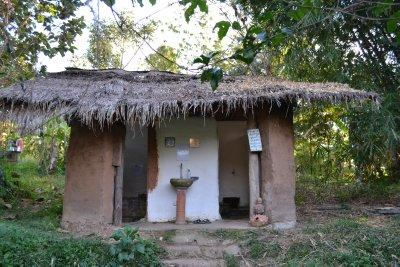 Toilet cubicles at Pun Pun farm