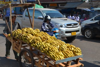 Banana cart, Vientiane