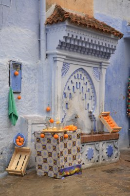 Chefchaouen - blue and orange