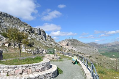 Road up to El Torcal National Park