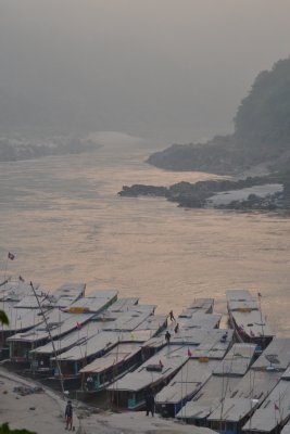 Slow boats on the Mekong, Laos