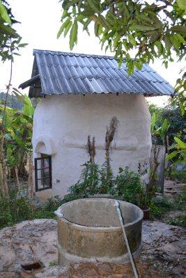 Mud brick house at Pun Pun