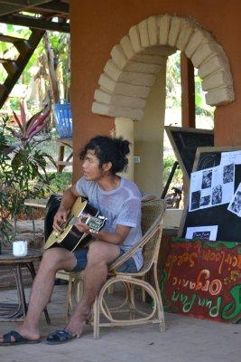 Evening guitar session at Pun Pun