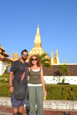 Us at Pha That Luang, Vientiane