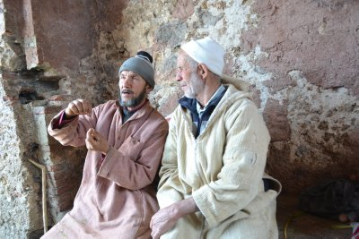 Chefchaouen men having a good discussion