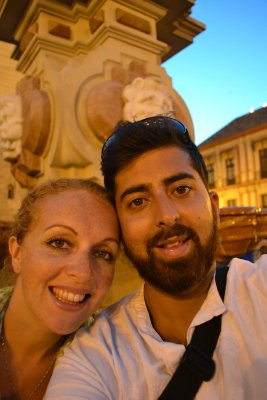 Us on our evening stroll in Seville