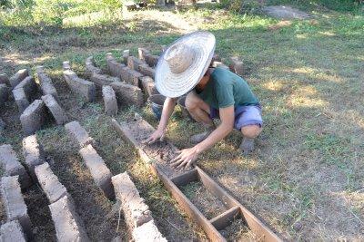 Making bricks at Pun Pun