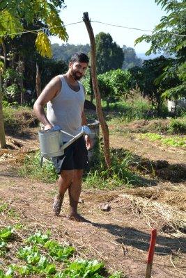Sully working at Pun Pun
