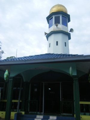 Small mosque on the hill in Tanah Rata