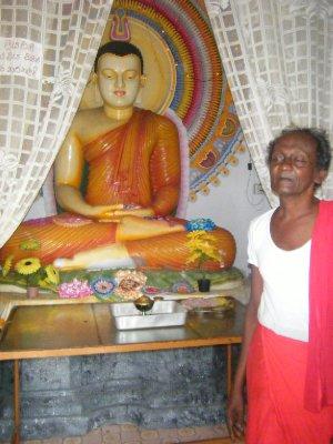 Priest with Buddha