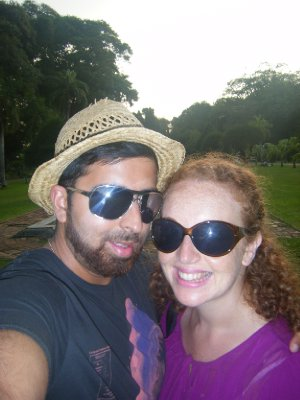 Us chilling in Victoria Park
