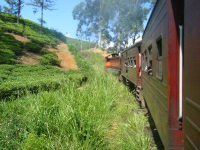 Our train climbing through the hills