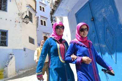 Trendy chics of Chefchaouen