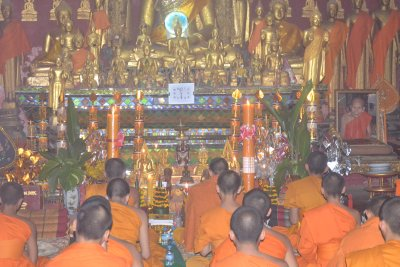 Prayer time in Luang Prabang