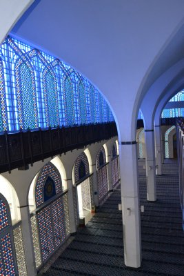 The 'Blue Mosque', Shah Alam - blue glow from dome