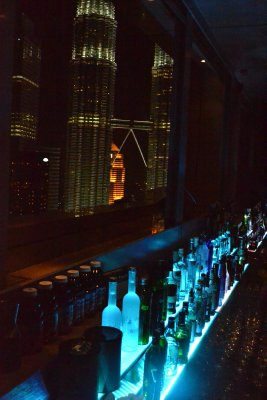 The SkyBar and view of Petronas Towers