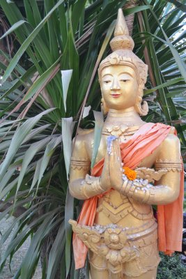 Statue at temple, Vientiane