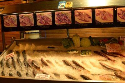 Fresh fish caught that day - tough choice!