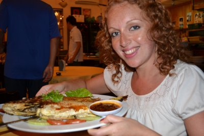 Fish supper! Red snapper in Langkawi