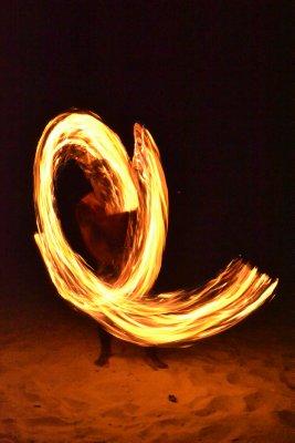 Fire performer, Cenang Beach, Langkawi