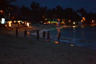 Beach by night