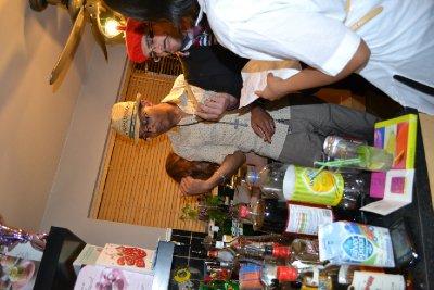 Cocktails at leaving party's Bon Voyage Bar