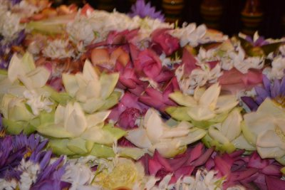 Floral offerings to the Tooth