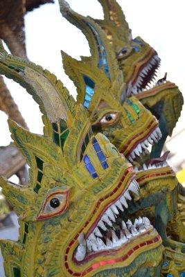 Chiang Mai temple dragons
