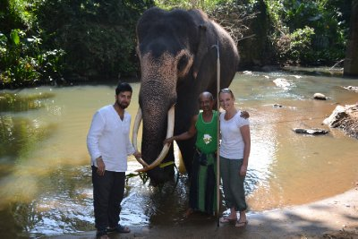 Us with Raja and the mahout