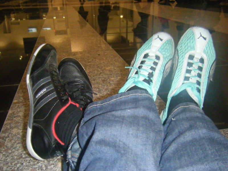 Travellers' feet