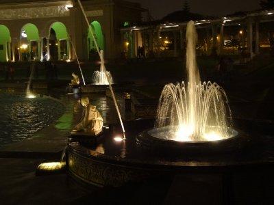 Le parc des Fontaines à Lima