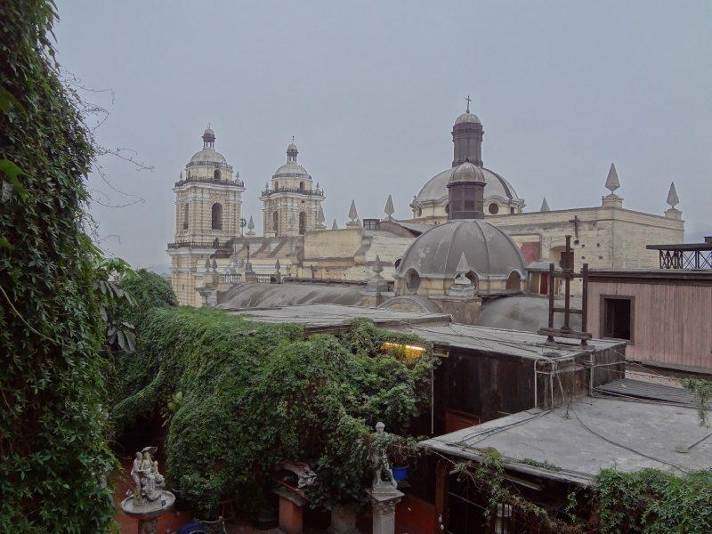 Vue de notre chambre à Lima