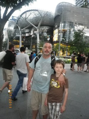 dad and i on orchard road singapore