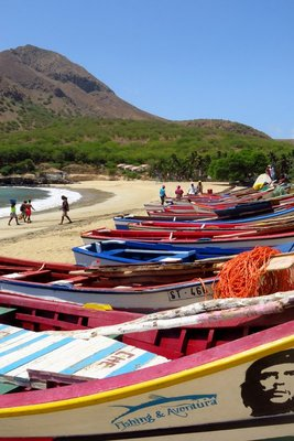 Fishing Boats and Beach