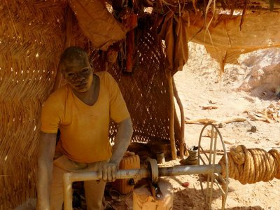 Teenager Working in the Gold Mine