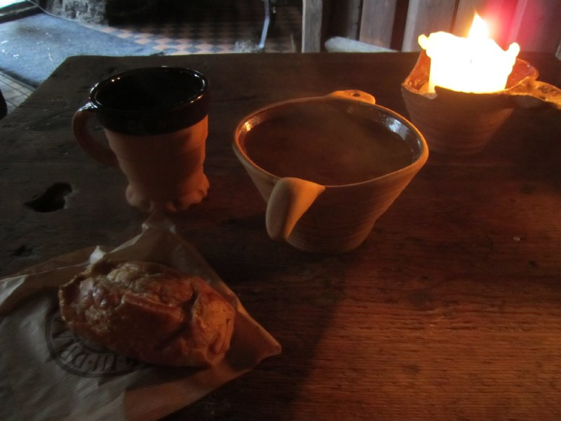Traditional medieval meal