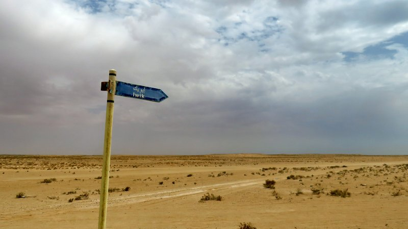 Road Sign in the Middle of Nowhere