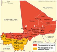 UK Travel Advise for Mali