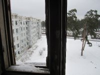 View from abandoned apartment block in Karosta