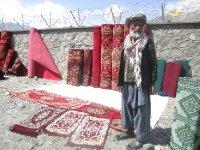 Afghan carpet seller